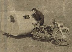 Vintage bike trailer