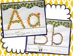 ABC DICTIONARY --- INTERACTIVE, TACTILE ALPHABET DICTIONARY FOR YOUNG LEARNERS - TeachersPayTeachers.com Alphabet Book, Learning The Alphabet, Letter Recognition Kindergarten, Kindergarten Activities, School Stuff, Nest, Invitations, Lettering, Fun