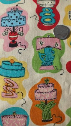 Retro Fabric Retro Lamps in Bright Colors by VintageFabricFinds