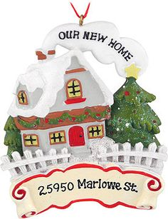 Buy Our First Home Red Heart - Home Christmas Ornaments, New Home ...