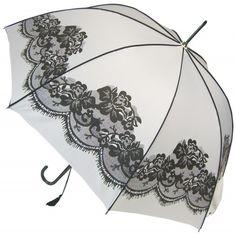 Vintage Umbrella - White