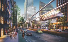 FX FOWLE's Halo Line that would provide suspended tram service