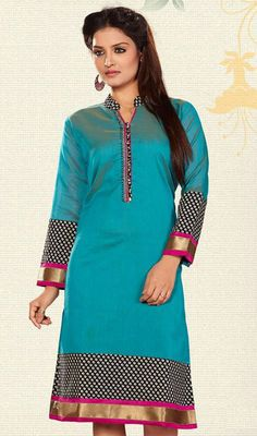 Long Tunic Tops in Silk & Cotton designer #Kurti
