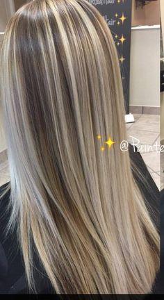 Brown Hair With Blonde Highlights, Blonde Hair Looks, Brown Blonde Hair, Hair Color Highlights, Cool Toned Blonde Hair, Hair Color Shades, Hair Color And Cut, Cool Hair Color, Hair Color Techniques