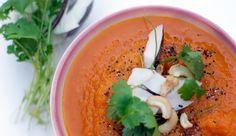 Græskarsuppe med ingefær, chili og spidskommen