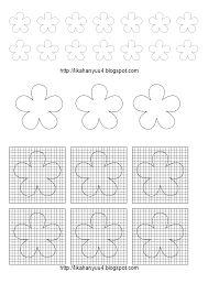 Resultado de imagem para molde flores papel