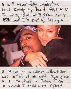 "4,374 Likes, 69 Comments - Stuck in the 90s  (@stuckintha90s) on Instagram: """"4 Jada"" Tupac's love letter to Jada Pinkett. I loved their relationship ❤️✨ #90s #tupac…"""