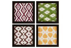 One Kings Lane - Spotlight on...Ikat - Set of 4 Ikat Framed Prints
