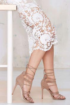 Nasty Gal Wrap Me Up Suede Heel | Shop Shoes at Nasty Gal