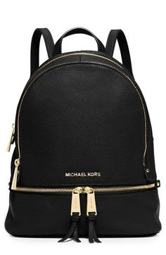 online shopping for MICHAEL Michael Kors Rhea Zip Medium Leather Backpack, Black from top store. See new offer for MICHAEL Michael Kors Rhea Zip Medium Leather Backpack, Black Mk Handbags, Handbags Michael Kors, Purses And Handbags, Designer Handbags, Designer Bags, Black Handbags, Cheap Handbags, Designer Backpacks, Burberry Handbags