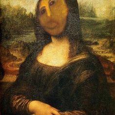Funny Mona Lisa jesus fresco ruined