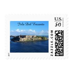 Puerto Rico Stamps - photography gifts diy custom unique special