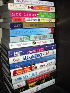 Meg Cabot Books:  I love the Heather Wells series, the Queen of Babble series, and the Boy series!  And of course, I love the Princess Diaries movies!
