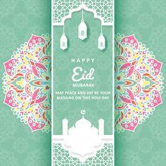 Eid Mubarak greeting card with mandala ornament Premium Vector Eid Mubarak Images, Eid Mubarak Wishes, Eid Mubarak Greeting Cards, Eid Mubarak Greetings, Happy Eid Mubarak, Eid Mubarak Quotes, Ramadan, Happy Eid Ul Fitr, Eid Card Designs