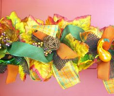 Fall Floral Garland 6 ft by CorinnesCottage on Etsy, $25.00