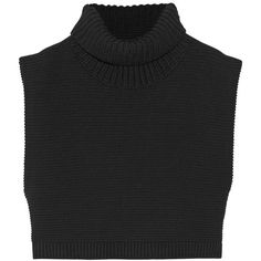 Victoria Beckham Cropped chunky-knit cotton turtleneck sweater ($390) ❤ liked on Polyvore featuring tops, sweaters, crop tops, shirts, black, knitwear, heavy knit, turtleneck crop tops, shirt sweater and crop top