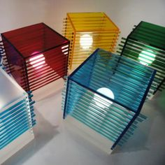 """These Eco Design Lamps by Andriana Design are """"impact pieces"""" that aren't likely to be missed. Table Cubes ignore all classic lighting conventions, Lighting Concepts, Lighting Design, Lighting Ideas, Lamp Design, Diy Design, Design Ideas, I Love Lamp, Coffee Table Design, Unique Lighting"""