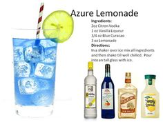 Spring Cocktails Azure Lemonade New Drinks | Midnight Mixologist