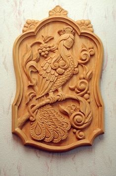 VK is the largest European social network with more than 100 million active users. Wood Carving Art, Bone Carving, Wooden Wall Decor, Wooden Walls, Wood Design, Design Art, Art Carved, Carved Wood, Cnc Wood