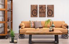 ΔΙΑΦΑΝΟ - Καναπές τριθέσιος Bugatti Bugatti, Entryway Bench, Couch, Furniture, Home Decor, Homemade Home Decor, Hall Bench, Sofa, Couches