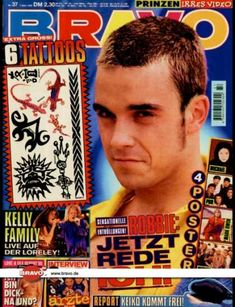 Bravo - - Robbie Williams (Take That) - Kelly Family - Die Ärzte - Robbie Williams Take That, Interview, Music Magazines, Videos, Cover, Singer, Retro, Collection, Journals