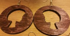 R.I.O.T. Afro Wooden Lady Earrings (2x2 Inches) by celestecapricecandle on Etsy