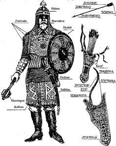 Equipement moyen d'un noble musulman lors des croisades