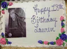 Magnus Bane cake I got for my 18th Birthday :)