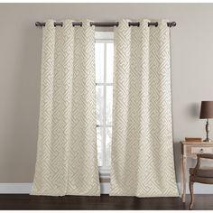 R.LANG Solid Grommet Top European Style Jacquard Living Room sheer Curtain 1 Pair Coffee 46W X 54 L