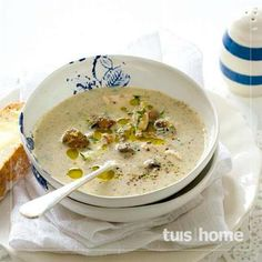 Chicken and Mushroom Soup South African Dishes, South African Recipes, Soup Recipes, Dessert Recipes, Cooking Recipes, Fruit And Veg, Winter Food, Vegetable Recipes, Food To Make