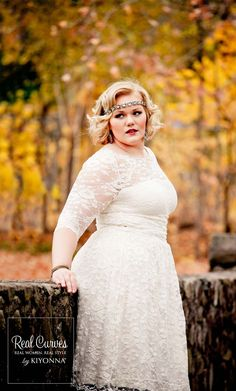 Aurora Lace Wedding Dress  - Kiyonna $19130907 $242 See comments for link to awesome pics