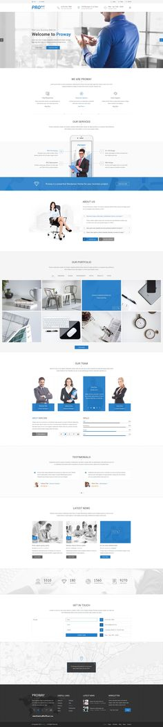 Proway Plus Multipurpose Business #PSD  template suitable for a wide variety of businesses. #corporate #smallbiz #website