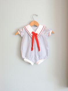 80s Vintage SAILOR BABY Rompersize 9 monthsgirls by retroandme. $16.00, via Etsy.