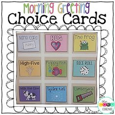 These colorful cards help provide a variety of ways for students to greet each other at the beginning of the day. The greeting cards can be a perfect addition to your morning meeting.