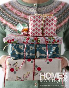 Get creative with your wrapping this year!!! Bebe'!!! Love the variety of papers and bows!!!