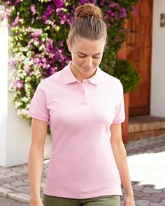 63560 Fruit Of The Loom Lady-Fit Polo