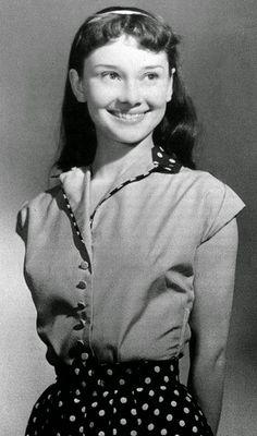 Audrey Hepburn, age 13.
