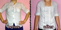 a h&m knockoff , white shirt refashion , men's shirt  refashion , h&m copycat - more on my blog <3