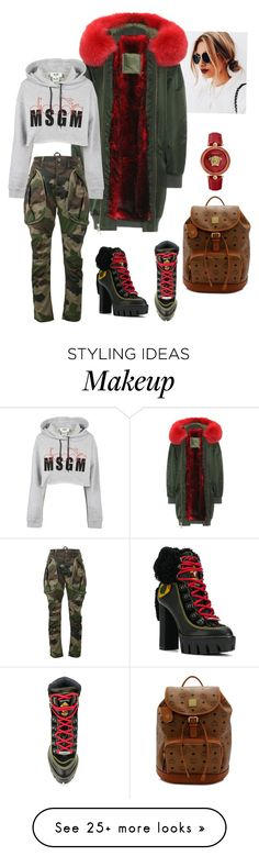 """Styling 101: Cozy Coat"" by lmhandford on Polyvore featuring Mr & Mrs Italy, MSGM, Dsquared2, Faith Connexion, MCM and Versace"