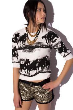 Sudadera estampado caballos - Q2 Shop   Las últimas tendencias en moda. Ropa y complementos al mejor precio   España Envío Gratuito