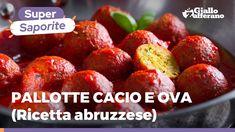 PALLOTTE CACIO E OVA ABRUZZESI - Ricetta originale - YouTube Raspberry, Strawberry, Frittata, Pasta, Fruit, Carne, Ethnic Recipes, Video, Food