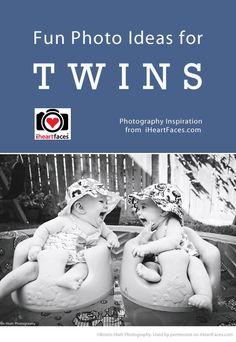 Fun Photo Ideas for Twins via iHeartFaces.com