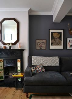 Charcoal Paint Colours & Charcoal Interiors, Image Source apartmenttherapy.com