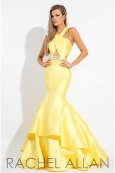 Rachel Allan 7593 Yellow Prom Dress