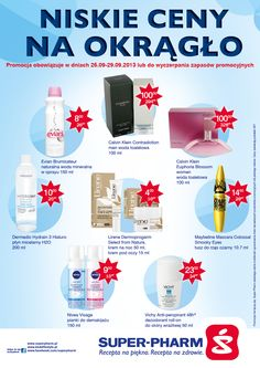 Od dziś do 29.09 trwa promocja Niskie ceny na okrągło. Koniecznie zapoznajcie się z gazetką!  http://www.superpharm.pl/promocje/akcje