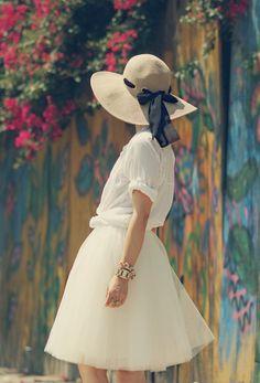 Alli: Tulle Skirt + Straw Hat