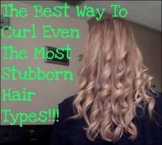 It REALLY worked!! I tried it, its fast, easy and it lasts!! I'm never trying to curl my hair any other way, ever again!!