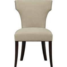 Sasha Side Chair with Leather Welt in Dining Chairs | Crate and Barrel. Kitchen.