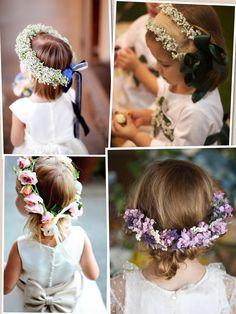 tocados flores niñas - Buscar con Google