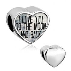 1b9a7bdea QandLocket I Love You To The Moon And Back Charms 925 Sterling Silver Photo  Bead For Bracelet -- Nice having you for visiting our photograph.